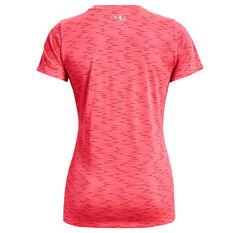 Under Armour Womens UA Tech Dash Tee Pink XS, Pink, rebel_hi-res