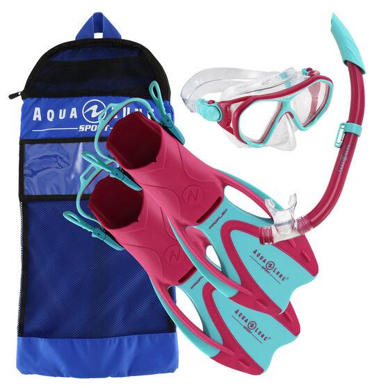 Aqua Lung Sport Junior Urchin Snorkel Set, Pink, rebel_hi-res