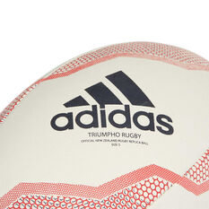 adidas New Zealand Rugby Union Ball White / Red 3, White / Red, rebel_hi-res
