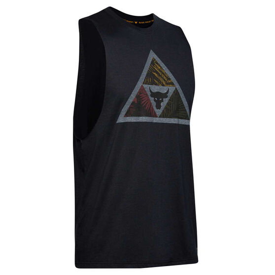 Under Armour Mens Project Rock Mana Tank, Black, rebel_hi-res