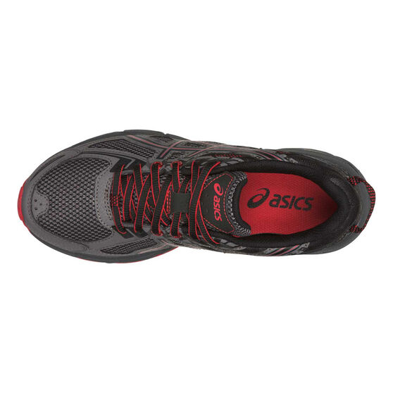 Asics Gel Venture 6 Kids Running Shoes, Grey / Red, rebel_hi-res
