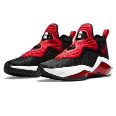 Nike LeBron Soldier XIV Mens Basketball Shoes, Black/Red, rebel_hi-res