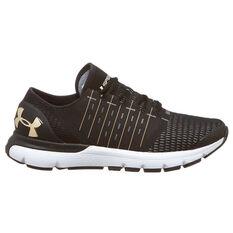 Under Armour SpeedForm Europa Mens Running Shoes Black / Gold US 7, Black / Gold, rebel_hi-res