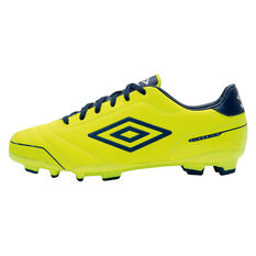 Umbro Classico 3 Junior FG Football Boots Yellow / Blue US 10.5 Junior, Yellow / Blue, rebel_hi-res