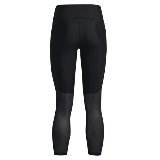 Under Armour Womens HeatGear No-Slip Waistband Graphic Ankle Tights, Black, rebel_hi-res