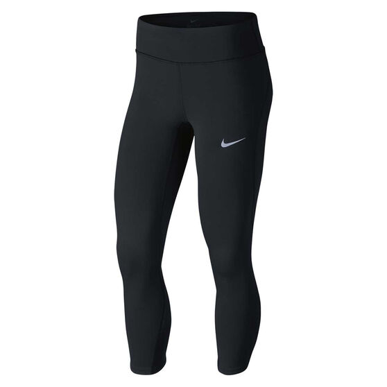 827654da76da60 Nike Womens Epic Lux Crop Tights Black / Silver XS, Black / Silver, rebel_hi