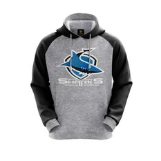 Cronulla-Sutherland Sharks 2019 Mens Hoodie Grey S, Grey, rebel_hi-res