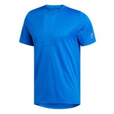 adidas Mens 3-Stripes HEAT.RDY Training Tee Blue S, Blue, rebel_hi-res