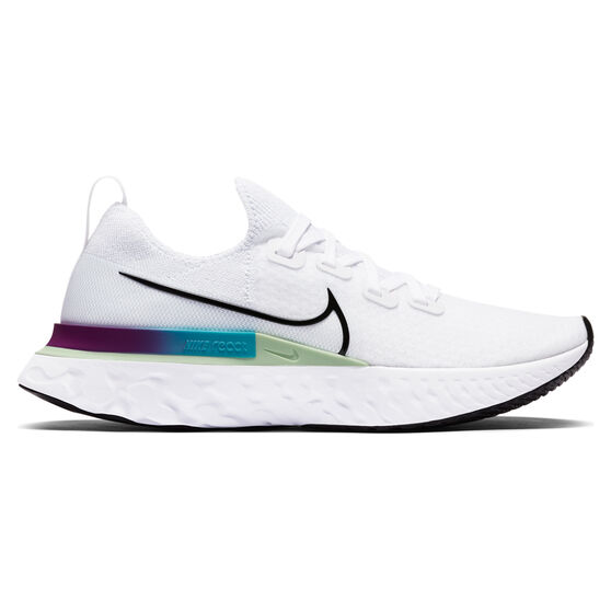 Nike React Infinity Run Flyknit Womens Running Shoes, White/Black, rebel_hi-res