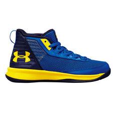 Under Armour Jet 2018 Junior Basketball Shoes Blue US 11, Blue, rebel_hi-res