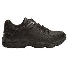 Asics Gel 540TR Leather Junior Cross Training Shoes Black US 8, Black, rebel_hi-res