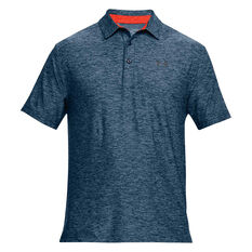 Under Armour Mens Playoff Polo Navy / Pink XS, Navy / Pink, rebel_hi-res