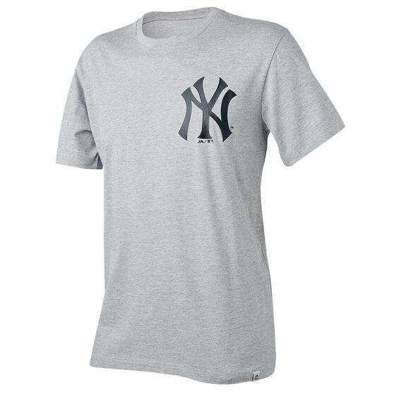 New York Yankees Mens Drimer Tee, Grey, rebel_hi-res