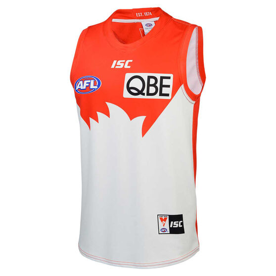 Sydney Swans 2020 Mens Home Guernsey, Red/White, rebel_hi-res