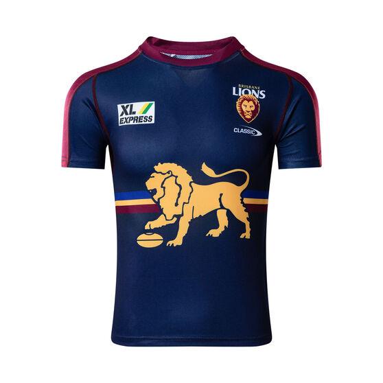 Brisbane Lions 2021 Mens Training Tee Blue XL, Blue, rebel_hi-res
