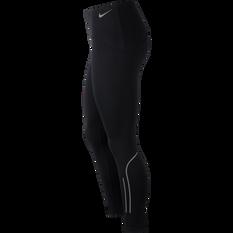 Nike Womens Speed 7/8 Running Tights, Black, rebel_hi-res