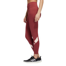 adidas Womens Believe This Disrupt 7/8 Tights, Red, rebel_hi-res