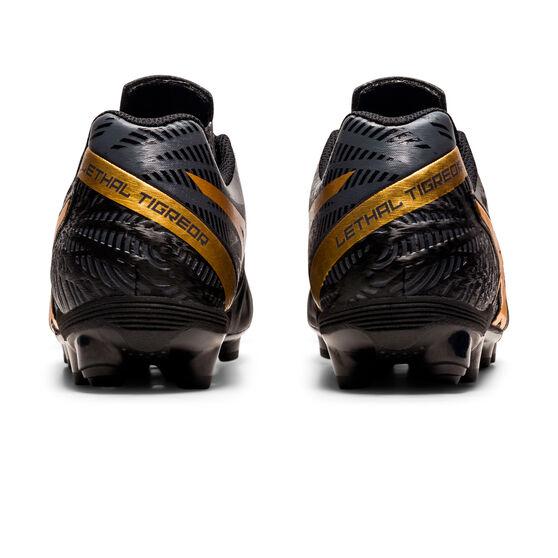 Asics Lethal Tigreor IT FF 2 Kids Football Boots, Black/Gold, rebel_hi-res