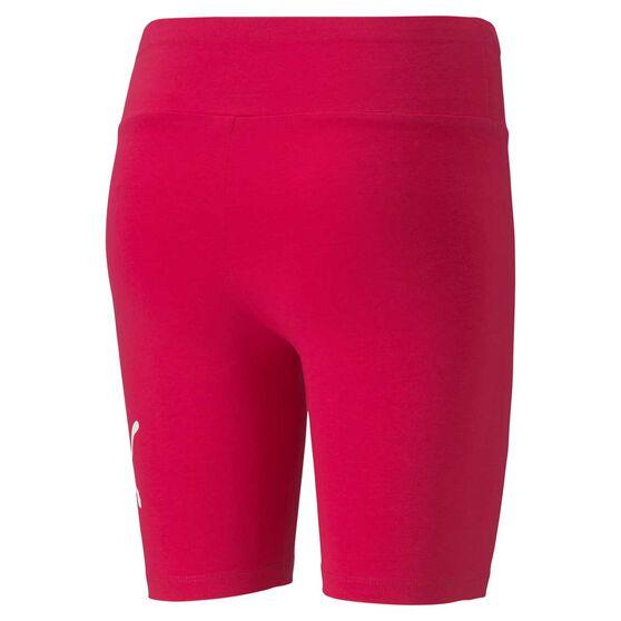 Puma Womens Essential 7 Inch Short Tights, Pink, rebel_hi-res