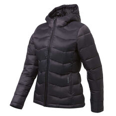 Ell & Voo Womens Morgan Puffer Jacket Charcoal XS, Charcoal, rebel_hi-res