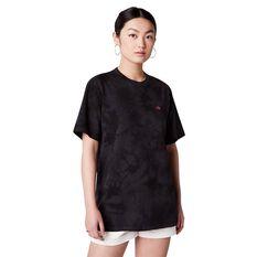 Converse Unisex Tie Dye Tee Black S, Black, rebel_hi-res