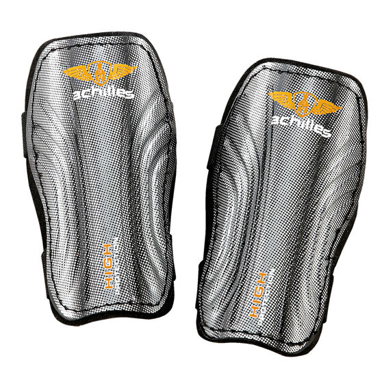 Achilles Striker Shinguards Black / Orange L, Black / Orange, rebel_hi-res