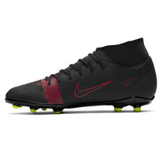 Nike Mercurial Superfly 8 Club Football Boots Black US Mens 7 / Womens 8.5, Black, rebel_hi-res