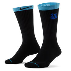 Nike Space Jam Crew Socks Black S, Black, rebel_hi-res