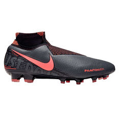 Nike Phantom Vision Elite Dynamic Fit Football Boots Grey / Red US Mens 8.5 / Womens 10, Grey / Red, rebel_hi-res