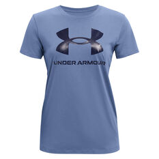 Under Armour Womens Graphic Sportstyle Classic Tee Blue XS, Blue, rebel_hi-res