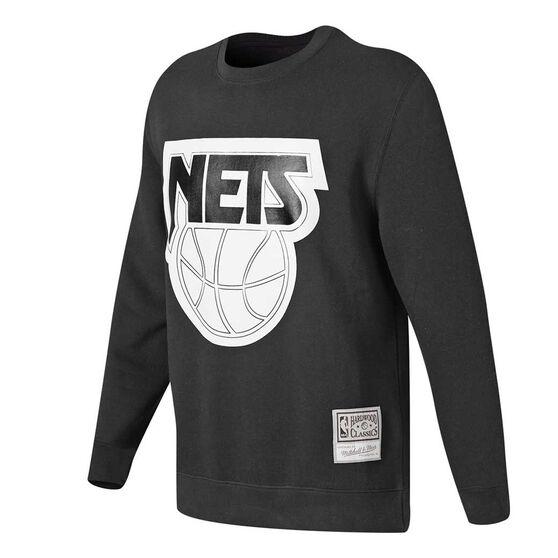 Brooklyn Nets Mens Sweatshirts, Black, rebel_hi-res
