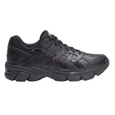 Asics Gel 190TR Leather D Womens Cross Training Shoes Black / Silver US 6, Black / Silver, rebel_hi-res
