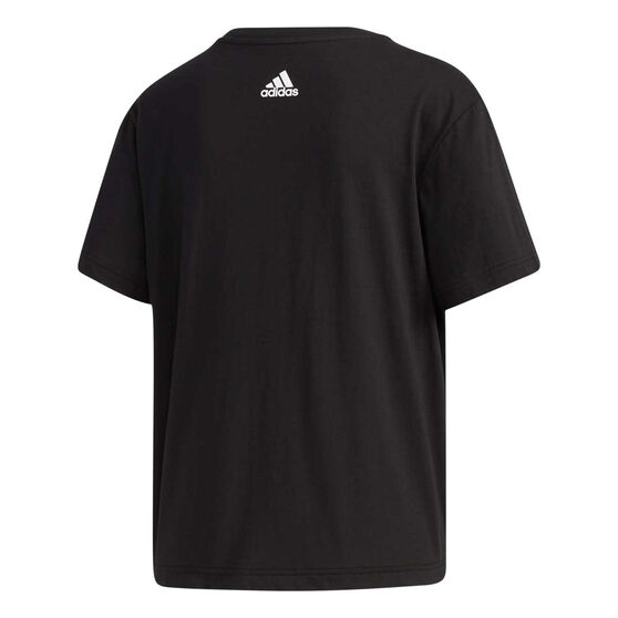adidas Womens Big Logo Tee, Black, rebel_hi-res