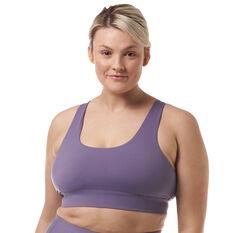 Ell & Voo Womens Quinn Sports Bra Purple XXS, Purple, rebel_hi-res