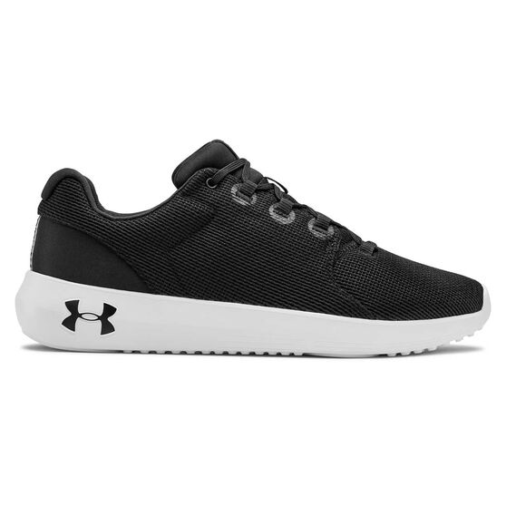 Under Armour Ripple 2.0 Mens Casual Shoes, Black / White, rebel_hi-res