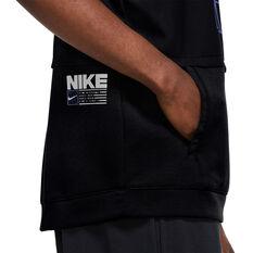 Nike Mens Dri-Fit Sleeveless Training Hoodie, Black, rebel_hi-res