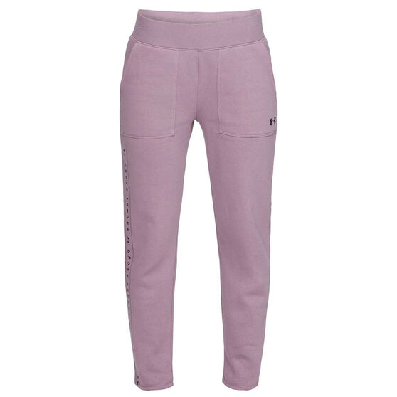 Under Armour Womens UA Rival Fleece Pants, Purple, rebel_hi-res