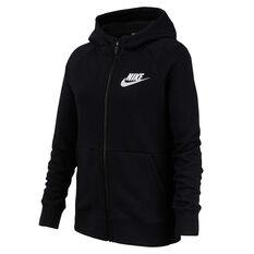 Nike Girls Sportswear Full Zip Hoodie Black XS, Black, rebel_hi-res