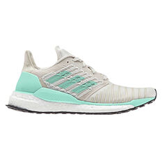 adidas Solar Boost Womens Running Shoes White / Green US 5, White / Green, rebel_hi-res