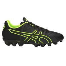 Asics Lethal Tigreor IT Kids Football Boots Black / Green US 1, Black / Green, rebel_hi-res