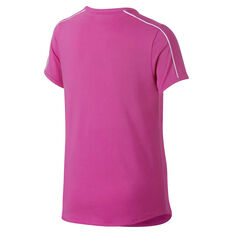 Nike Girls Court Dri-FIT Tennis Tee Pink / White XS, Pink / White, rebel_hi-res