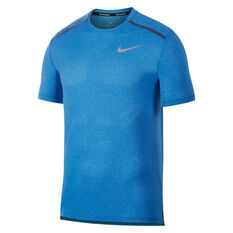 Nike Mens Dri-FIT Cool Miler Running Tee Blue S, Blue, rebel_hi-res