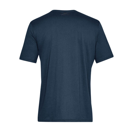 Under Armour Mens Sportstyle Left Chest Tee, Navy, rebel_hi-res