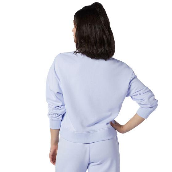 New Balance Womens Athletics Intelligent Choice Sweatshirt, Purple, rebel_hi-res