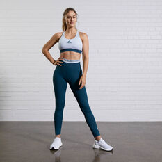 adidas Womens Don't Rest Alphaskin Padded Sports Bra Blue XS, Blue, rebel_hi-res