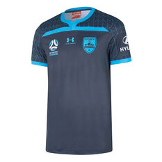 Sydney FC 2019/20 Youth Third Jersey Navy S, Navy, rebel_hi-res