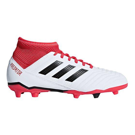 adidas Predator 18.3 FG Junior Football Boots, White / Black, rebel_hi-res