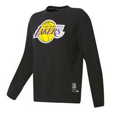 Los Angeles Lakers Mens Fleece Crew Sweatshirt Black S, Black, rebel_hi-res