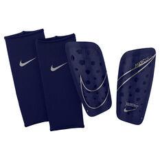 Nike Mercurial Lite Shin Guards Blue / Silver XS, Blue / Silver, rebel_hi-res