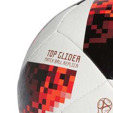 adidas Telstar Mechta 2018 Top Glider Soccer Ball White / Red 3, White / Red, rebel_hi-res